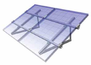 Pose de panneaux solaires au sol ou sur toit terrasse axun for Pose de panneaux solaires sur toiture